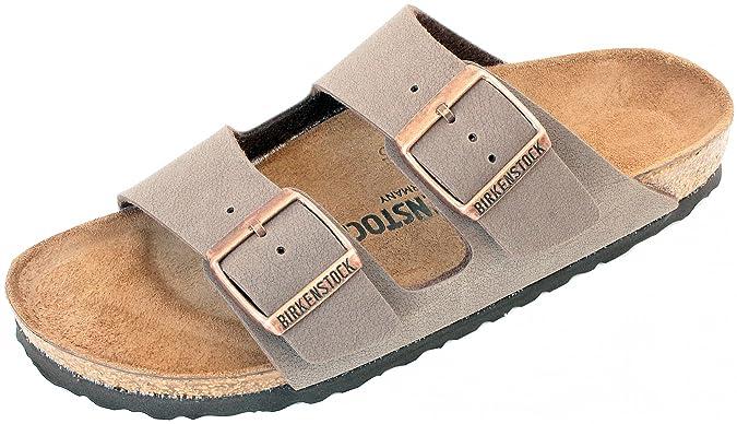 Amazon com Birkenstock Arizona Mocha Birko Flor Narrow Fit Women s Sandals 8 US Women 39 N EU Sport Sandals Slides