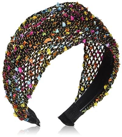 Amazon.com   Caravan Three inch Colorful Mesh Fabric Overhanging Comfortable  Headband b49d4c6ec95