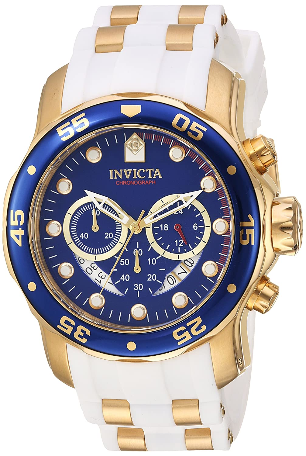 Amazon.com: Invicta Men's 'Pro Diver' Quartz Stainless Steel Casual Watch,  Color:Gold-Toned (Model: 20288): Invicta: Watches