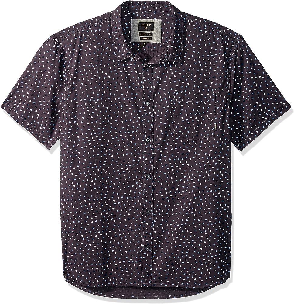 Quiksilver Hibashii - Camisa de manga corta con botones para hombre - Negro - Small: Amazon.es: Ropa y accesorios