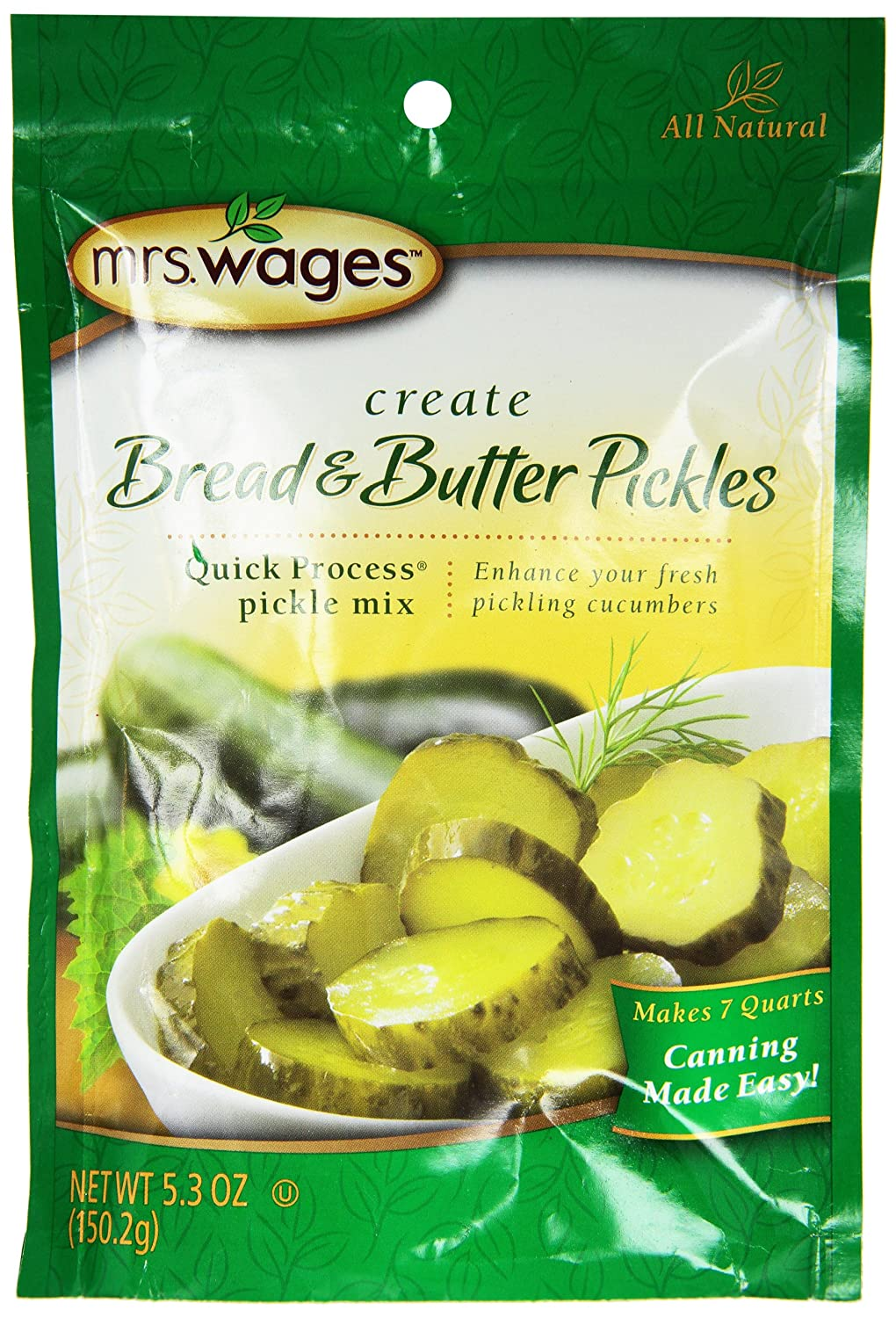 MrsWages Bread and Butter Pickles Quick Process Mix (VALUE PACK of 6)