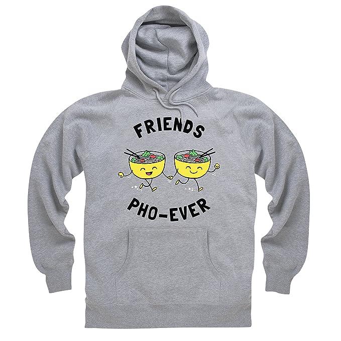 Friends Pho-Ever Sudadera con capucha, Para hombre, Gris jaspeado, M