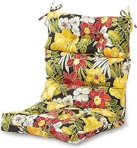 Greendale Home Fashions AZ4809-ALOHA-BLACK Aloha 44'' x 22'' Outdoor Seat/Back Chair Cushion