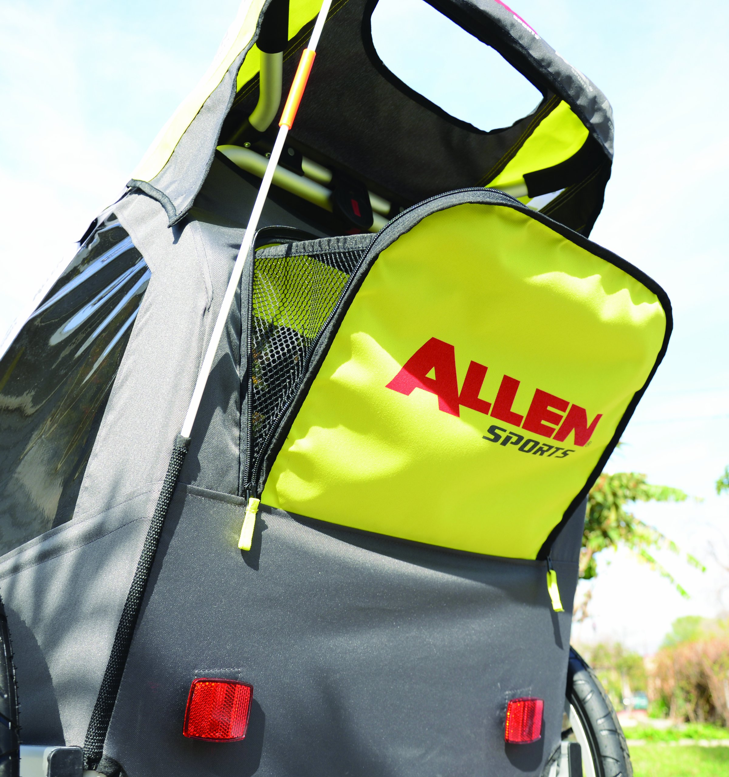 Allen Sports Premier 2-Child Aluminum Bike Trailer/Racing Stroller, Green/Grey by Allen Sports (Image #7)