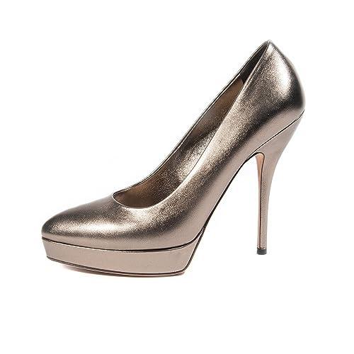 971122a66e Gucci Donna Scarpe Metallico con tacco e plateau in pelle Tg. 42 ...
