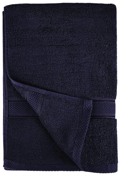 Pinzon by Amazon - Juego de toallas de algodón egipcio (2 toallas de baño y 2 toallas de manos), color azul marino: Amazon.es: Hogar