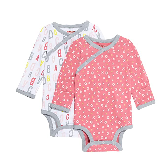 3281cef34f2c SkipHop Baby Girls  ABC-123 Side-Snap Long Sleeve Bodysuit Set