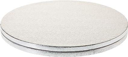 5 Piatti Sottotorta Quadrati Cake Board Modecor cm 25X25X1,2 h