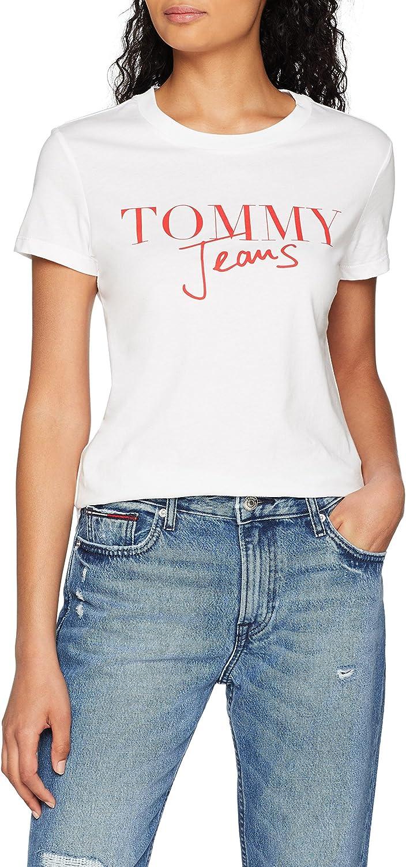 Tommy Hilfiger Script Logo Camiseta para Mujer