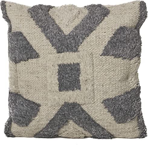 Christopher Knight Home Boggle Wool Pillow, Natural Charcoal