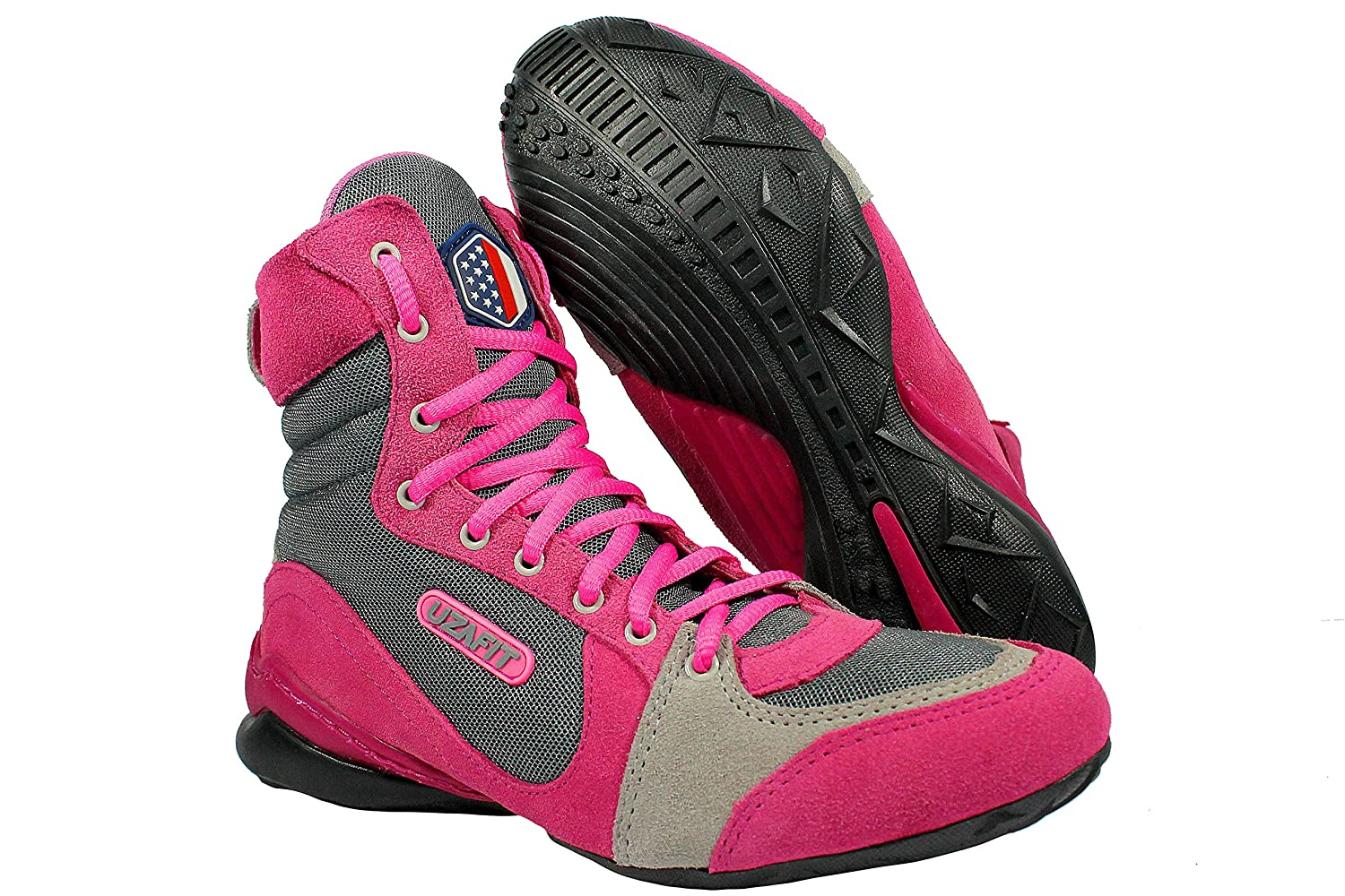 Uzafit Hollywood Bodybuilding Weightlifting CrossFit Boxing Shoe Sneaker  Hot Pink and Grey: Amazon.ca: Shoes & Handbags