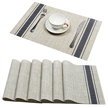 Amazoncom UArtlines Set Of PlacematsPlacemats For Dining Table - Conference table placemats