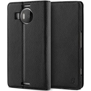 check out b5fbd 3a418 Microsoft Lumia 950XL Case, BEZ® Wallet Case for Microsoft Lumia 950XL,  Protective Leather Cases Flip Case Cover with Credit Card Holders, Kick ...