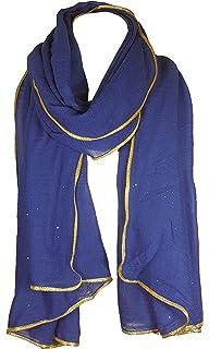 ad4fb64a09bd7 World of Shawls saisonnier Spécial NEUF FEMMES Style Célébrité paillette  brillant STARDUST AVEC OR passepoil bordure