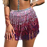 MUNAFIE Women's Belly Dance Hip Scarf Performance Outfits Skirt Festival Clothing