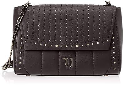 39846b24f2 Trussardi Jeans 75B00509-9Y099999, Sacs bandoulière femme - Noir - Noir,  32x21x15 cm