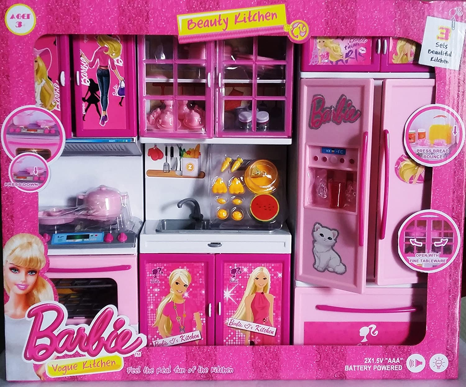 Buy Toy Electronic Barbie Like Kitchen Set For Kids From Amayra
