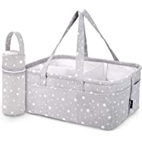 Unique Baby Diaper Caddy Organizer - Large Nursery Storage Bin for Changing Table   Car Travel Tote Bag   Boy Girl…