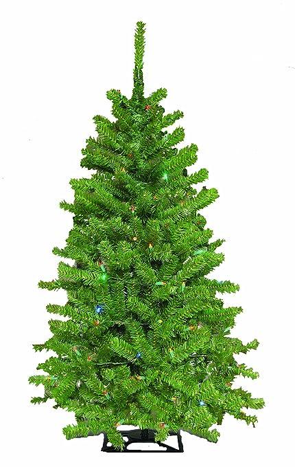 barcana 4 foot green mountain tabletop christmas tree with 150 5mm led multi color mini - Barcana Christmas Trees