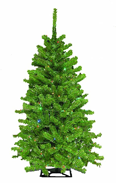 4 Foot Christmas Tree.Barcana 4 Foot Green Mountain Tabletop Christmas Tree With 150 5mm Led Multi Color Mini