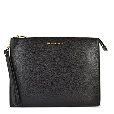 85ffd28b5ba3 MICHAEL by Michael Kors Mercer Black Leather Travel Pouch one size Black
