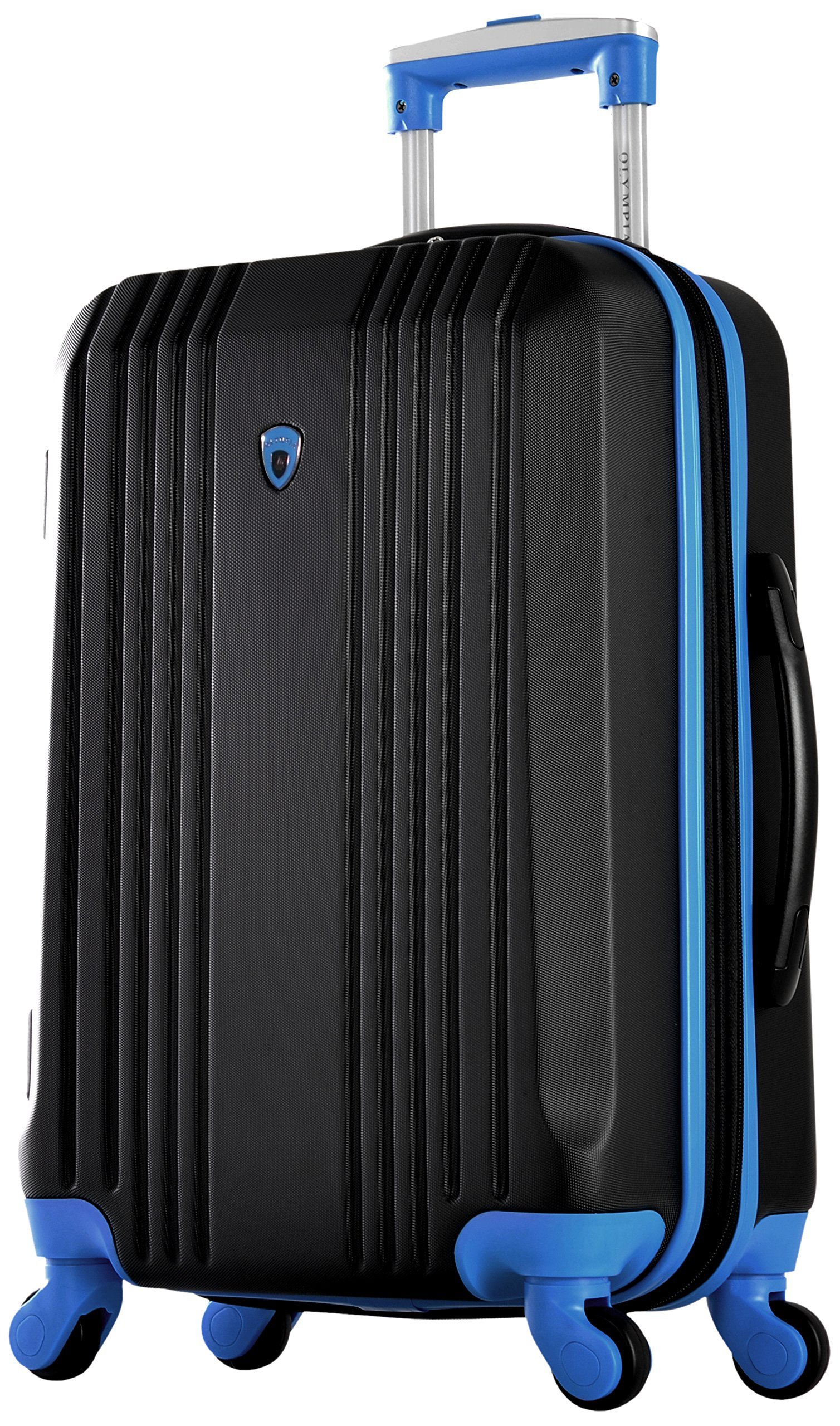 Olympia Apache Ii 21'' Carry-on Spinner, Black+Blue by Olympia (Image #1)