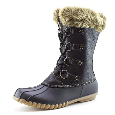 Women's Water-Proof Lace Up Fur Collar Snow Boots (Adults)