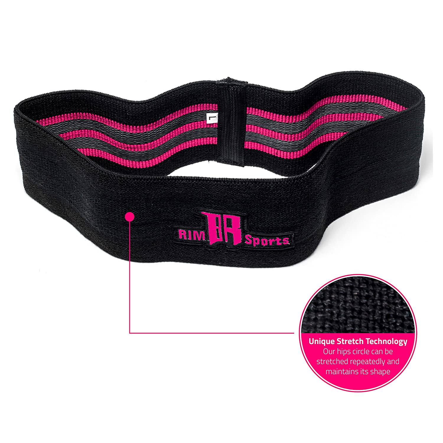 RIMSports Elite Hip Sling Resistance Bands Best Abductor Resistance Band for Squats Ideal Hip Band Circle for Lunges Premium Hip Band for Hips /& Glutes Exercises