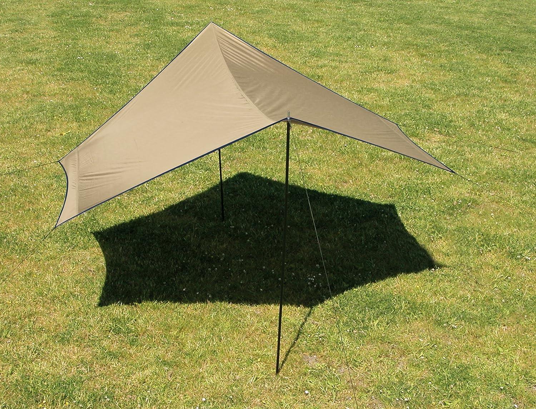 Euro Trail Tarp Hardin 325 cm x 325 cm Sonnensegel Wetterschutz