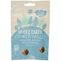 Whole Earth Coconut Peanut Butter Protein Powerballs On-The-Go Snack, 50 g, Pack of 6