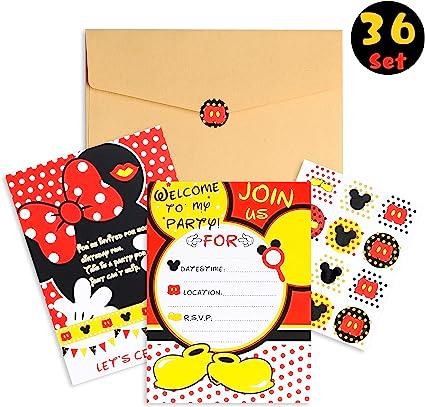 Amazon.com: PANTIDE - 36 tarjetas de invitación para fiesta ...