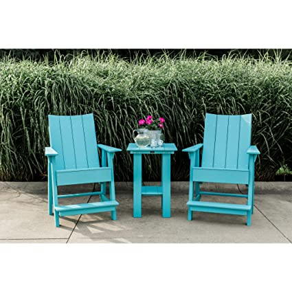 Fine Amazon Com Wildridge Outdoor Contemporary Balcony Height Andrewgaddart Wooden Chair Designs For Living Room Andrewgaddartcom