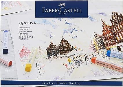 Faber-Castell 128336 - Estuche de cartón con 36 tizas pastel, multicolor: Amazon.es: Oficina y papelería