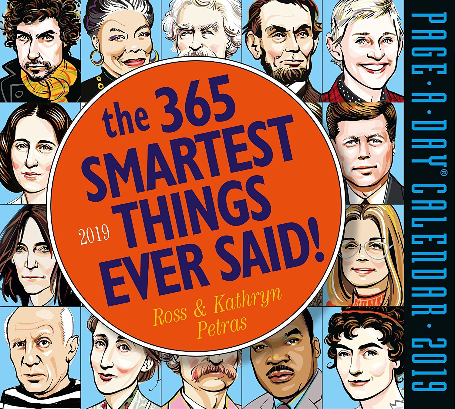 """The 365 Smartest Things Ever Said Page-A-Day Desk Calendar 2019 [6"""" x 6"""" Inches]"""