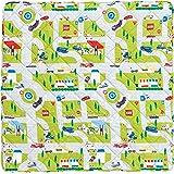 西川 リビング プレイマット 140×140cm トミカ01 グリーン