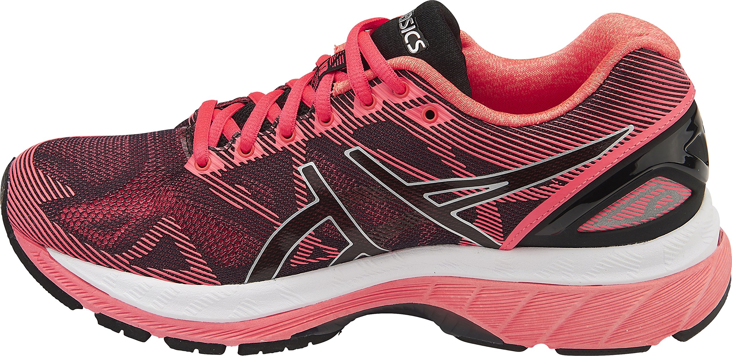 competitive price 773f9 f7a83 Galleon - ASICS Womens Gel-Nimbus 19 Running Shoe, Black Silver Pink, 7  B(M) US