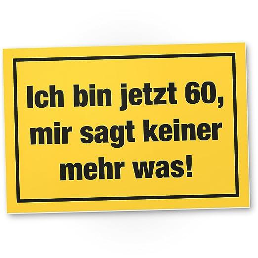 DankeDir!. Ich Bin 60 años, plástico Cartel - 60 cumpleaños ...