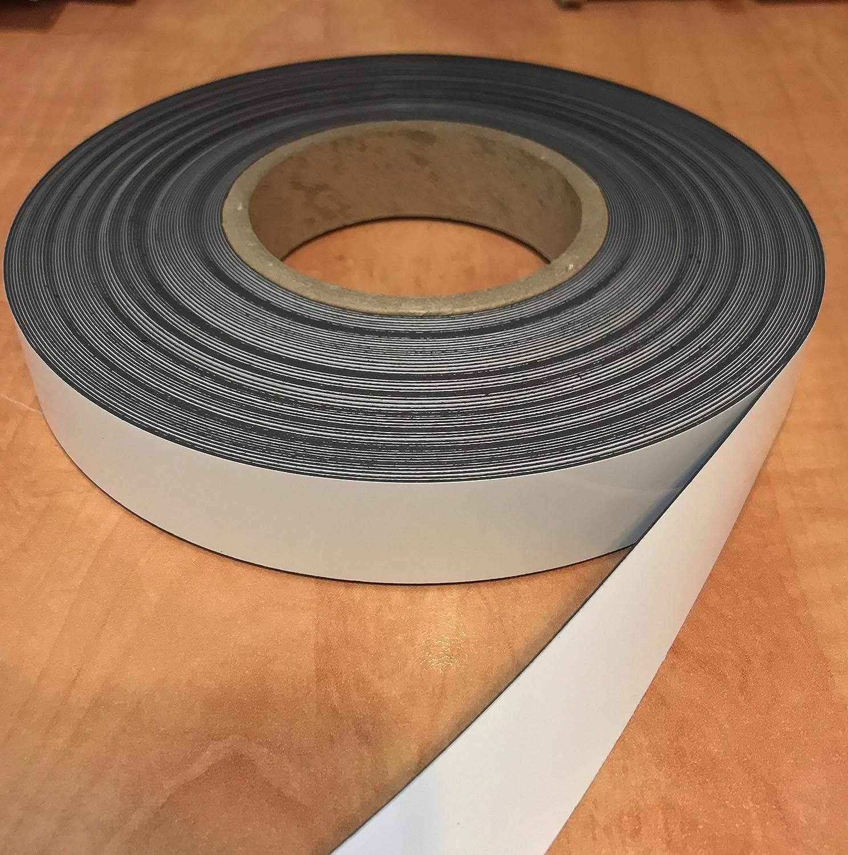 White 4 X 25 30 Mil Dry Erase Magnetic Strip Roll