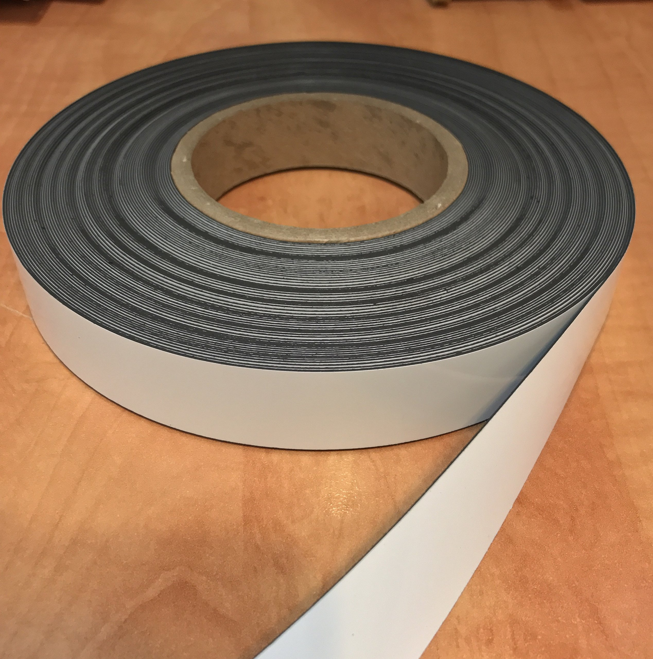 Dry Erase Magnetic Strip Roll 1'' x 100' Write on / Wipe off Magnet by Magnet Valley