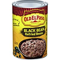 Old El Paso Black Bean Refried Beans, 16 Ounce (Pack of 12)
