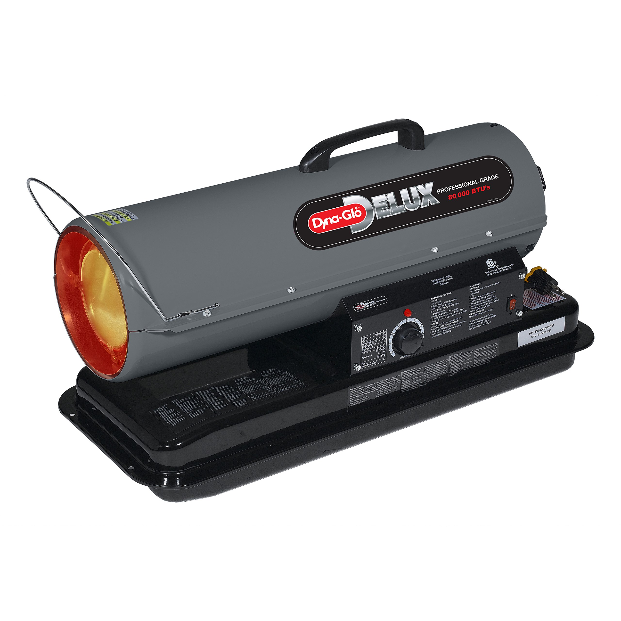 Dyna Glo Delux KFA80DGD  Kerosene Forced Air Heater, 80K BTU
