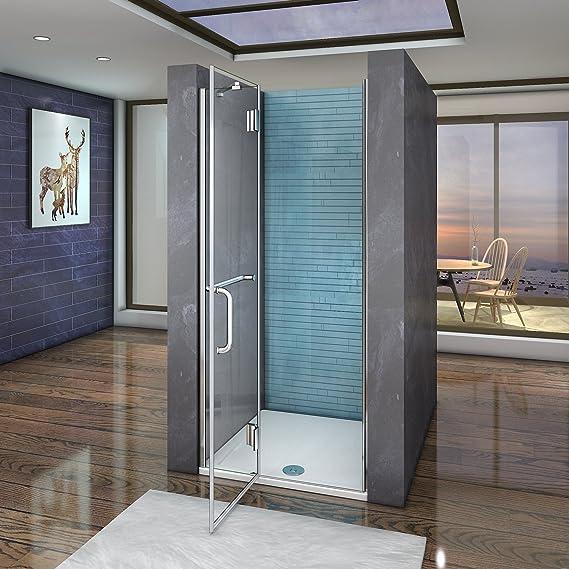 Aica Italy - Mampara de ducha con puerta batiente y barra ...