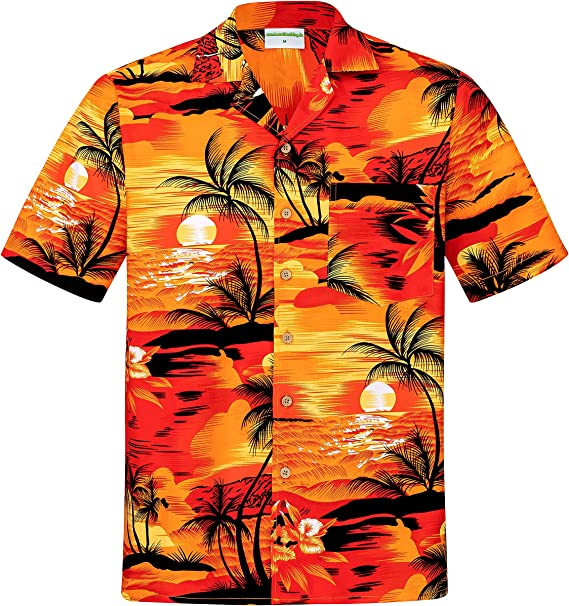 6xl Camicia Hawaii 100/% Cotone Camicia Hawaii HAWAI HAWAII SHIRT HAWAIANA M