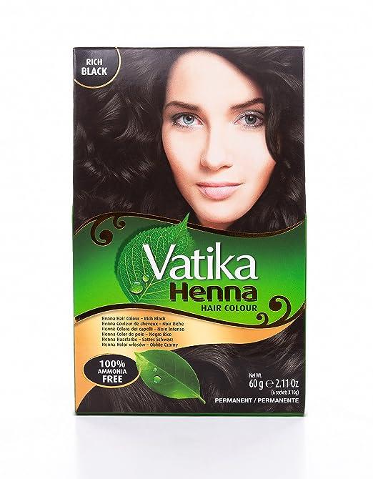 Amazon Com Vatika Hair Colour Rich Black Beauty