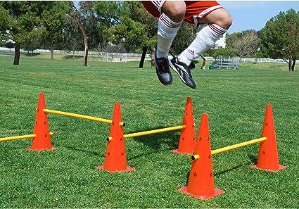 Trademark Innovations 20 Adjustable Hurdle Cone Set 8 Cones and 4 Poles