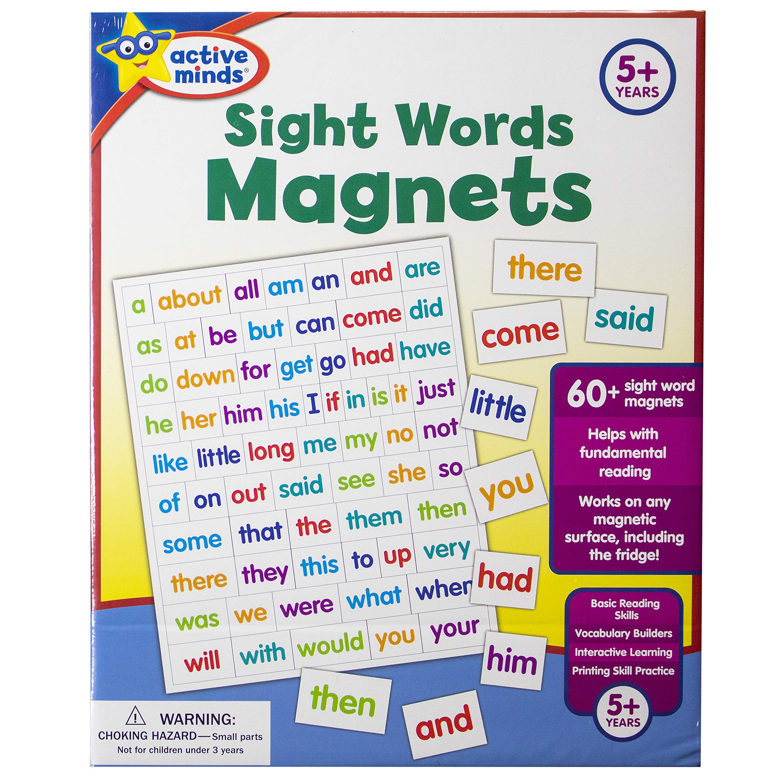 Active Minds Sight Words Magnets Learn And Practice Language Building Skills Needed For Reading Ages 5 And Up Edited By Sequoia Children S Publishing Edited By Sequoia Children S Publishing Edited By Sequoia