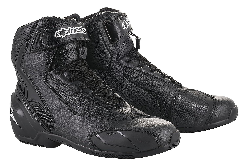 47 EU, Black Black SP-1 v2 Vented Motorcycle Street Road Riding Shoe