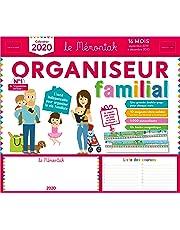 Organiseur familial Mémoniak 2019-2020 - Calendrier sur 16 mois de sept 2019 à dec 2020 : des magnets ultra-solides et une frise Montessori en cadeau !