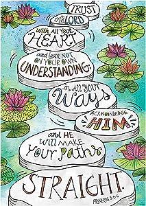 Creative Teaching Press Wall Décor, Religious Proverbs 3:5-6 Rejoice Inspire U Poster (2353)