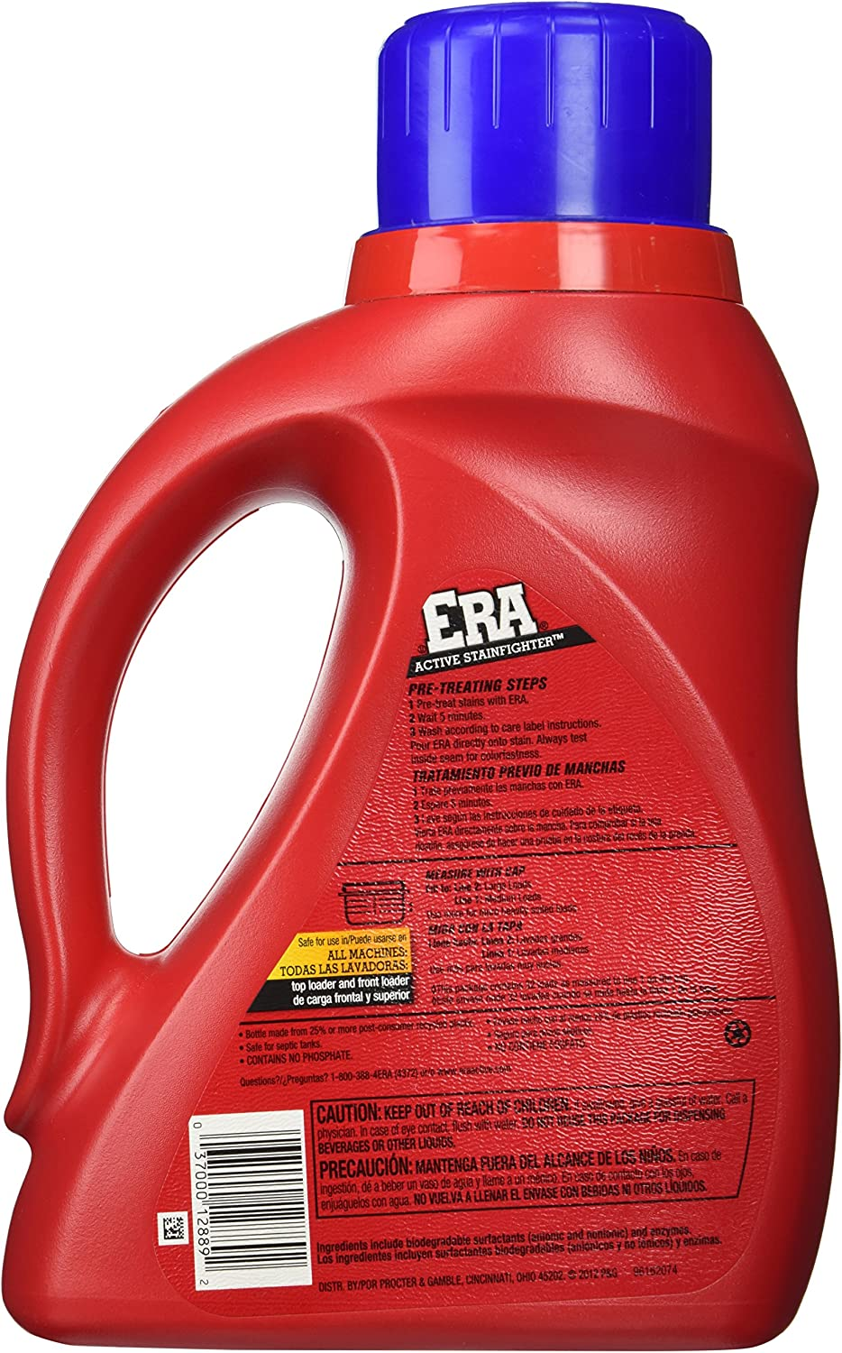 Era Regular Liquid Laundry Detergent, 50 Ounce by Era: Amazon.es ...